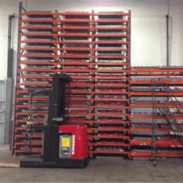 small components high bay racking