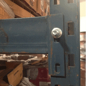 Unarco T-Bolt style roll formed racking